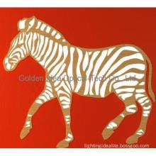 Zebra Shape Wooden Table Lamp