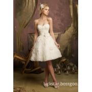 Short Lace Beading Summer Wedding Dresses (WMA011)