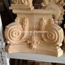 Partie de meubles sculptant bois capitales en bois décoratifs