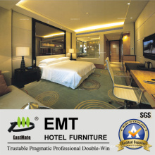 Luxus-Glas-Kopfteil an der Wand / Doppel-Größe Hotel Schlafzimmer-Möbel (EMT-A1202)
