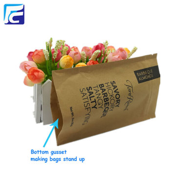 Stand up zipper kraft paper coffee bag wholesales