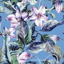 Цветок печать ткань для купальников (ASQ079)