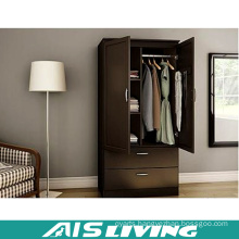 Plywood Bedroom Wardrobe Closet with 2 Doors & 2 Drawers (AIS-W261)