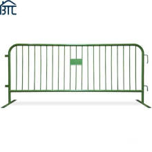 Hot Dipped Galvanized Steel or Powder Coat Color Finish Metal Crowd Control Pedestrian Barricades.