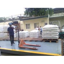 Échelle de camion dans le sac de riz de pesage