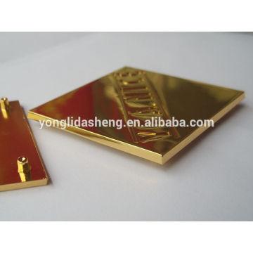 Placa de metal decorativa de la aleación del cinc / placa de metal