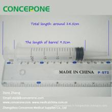 Seringue d'alimentation stérile en plastique jetable 20ml