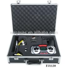 helicóptero de alumínio popular maleta com alta qualidade inserção de espuma personalizado
