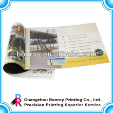 Saddle stitching 157g art paper brochure