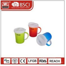 plastic coffee mug 0.37L with cover