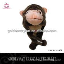 monkey cap animal shaped plush hats cute animal hats