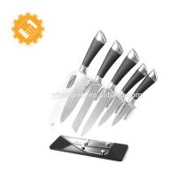 Ensemble de couteaux de cuisine professionnels en acier inoxydable avec lame en acier, 6 pcs