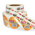 Custom Adhesive Cosmetic Printing Vial Label Roll Stickers