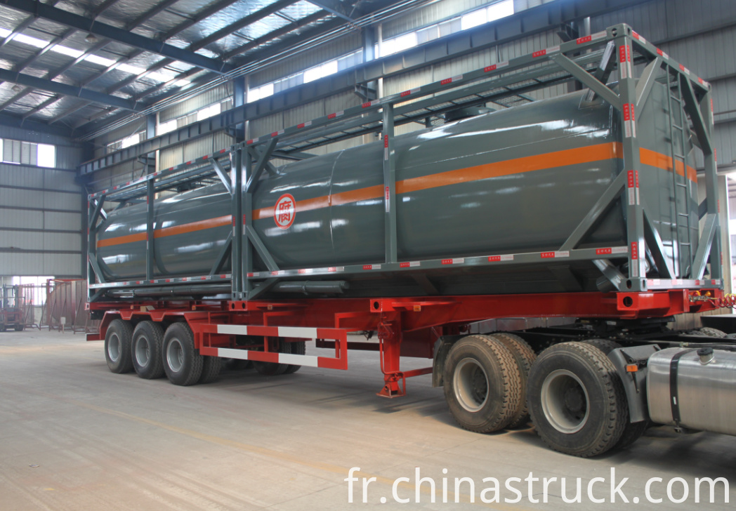 40FT tank container for hydrochloric acid