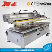 Siebdruckmaschine aus Edelstahl mit beweglichem Tisch