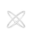 Simple Design X Silver Ring 925 Sterling Silver Jewelry