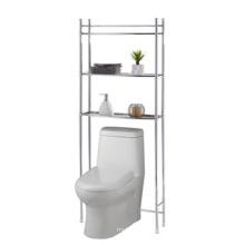 Metal shelf over toilet for bathroom