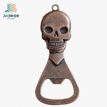 Customize Logo Casting Bronze Promotion Gift Metal Bottle Opener with Skull Logo