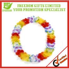 Promoción personalizada Hawai Flower Lei / collar de flores / guirnalda de flores