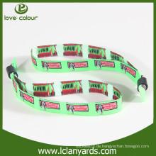 Freier Entwurfsdekoration kundenspezifischer heißer Verkauf gesponnenes Ereignis Wristband