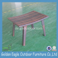 PE Rattan & Aluminium Outdoor Hocker Set