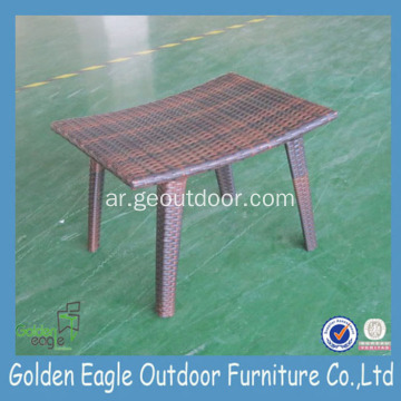 PE Rattan& Aluminum Outdoor Stool Set