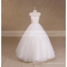 El cordón barato rebordeó el vestido de bola del vestido de boda del corsé
