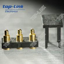 Connecteur à broche Pogo 3 po en laiton SMT avec plaqué or moulé