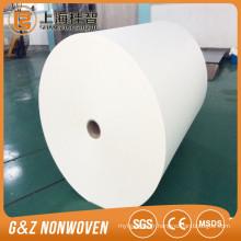 50% viscose 50% polyester spunlace tissu non-tissé croisé rouleaux