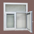 Customized pvc casement windows with internal louver