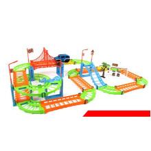 Großhandels geändertes Bahn-Auto-Spielzeug, pädagogisches Spielzeug-mehrschichtiges Auto-Spielzeug