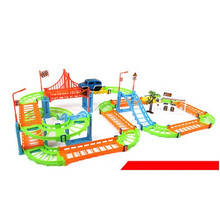 Venta al por mayor Cambió los juguetes del coche de la pista, juguetes educativos Juguete del coche de múltiples capas