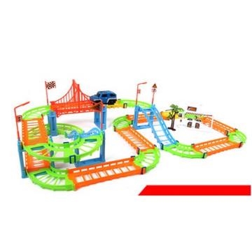Brinquedos alterados por atacado do carro da trilha, brinquedo Multilayer do carro dos brinquedos educacionais