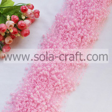 3 + 8MM luce rosa simil finte perle perline Garland