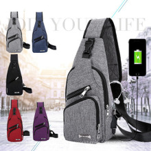 2021 New USB Chest Bag Outdoor Sports Sling Bag