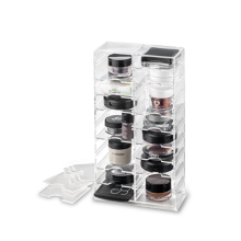 Acrylic Makeup Stand Organizer With Removable Dividers