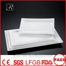 Usine de céramique P & T, plaque en porcelaine blanche, plaques rectangulaires, plaques de mariage