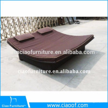 Outdoor Synthetic Rattan Daybed For Porch