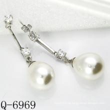Neueste Styles Cultured Perlen Ohrringe 925 Silber (Q-6969)
