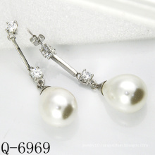Latest Styles Cultured Pearl Earrings 925 Silver (Q-6969)
