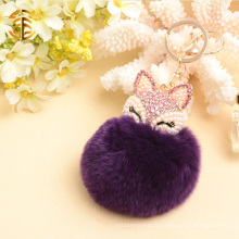 Bag Charm Fur Ball Rabbit Fur Pompoms Vente en gros Fur Pom Poms Keychain