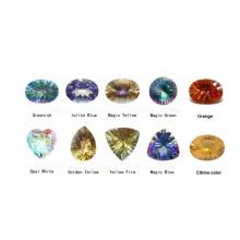 Piedra preciosa - topacio místico y cuarzo (MYS0002)