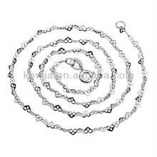 Einzigartiger Entwurfsart und weise 925 Sterlingsilberkettenhalskette