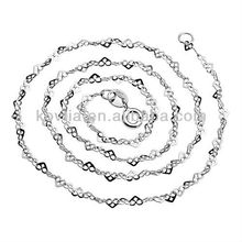 Collar único de la cadena de la plata esterlina de la manera 925 del diseño