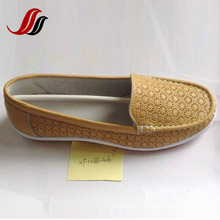 Последние женские туфли без шва отдыха кожаные ботинки (XF1088-39)