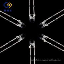 LED de 3 mm de luz de señal de diodo Luz larga Redondo