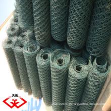 PVC revestido Hexagonal red de alambre / malla (fábrica)
