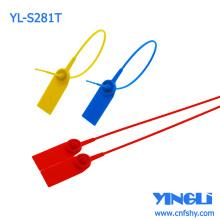 Selo de segurança ajustável de plástico de alta resistência com logotipo ou números impressos