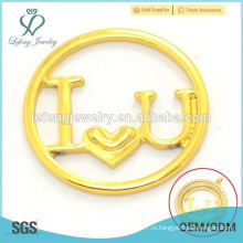 Мода dubai золотой сплав плавающей прелести медальон окно Я люблю U пластин украшения для влюбленных