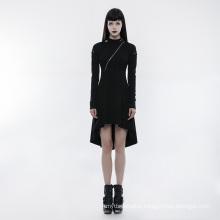 OPQ-236 PUNK RAVE women designer casual cotton black long dress